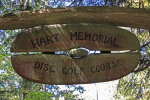 Sign for Hart Memorial Disc Golf Course, Salt Spring Island BC